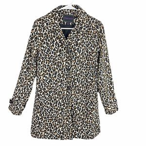 Forever 21 leopard print trench coat jacket tan